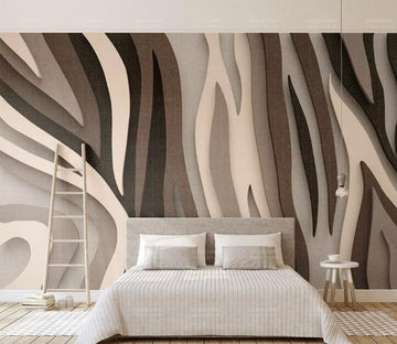 3D Color Abstract WC125 Wall Murals
