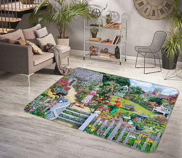 3D Beautiful Garden 1106 Trevor Mitchell Rug Non Slip Rug Mat Mat AJ Creativity Home