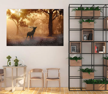 3D Foggy Antelope 65 Animal Wall Stickers