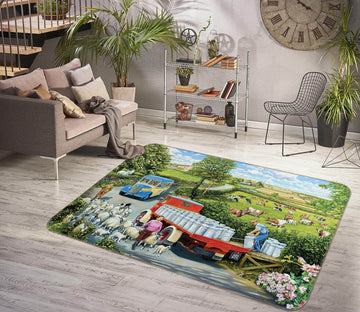 3D The Country Bus 1109 Trevor Mitchell Rug Non Slip Rug Mat
