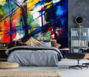 3D Color Graffiti 2057 Wall Murals