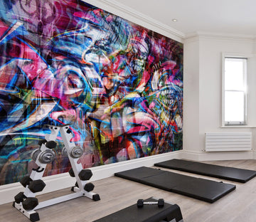 3D Color Graffiti 124 Wall Murals