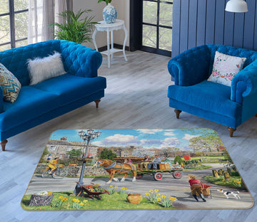 3D carriage 1098 Trevor Mitchell Rug Non Slip Rug Mat