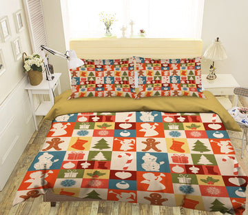 3D Christmas Plaid Pattern 31 Bed Pillowcases Quilt