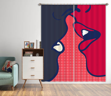 3D Kiss Pattern 1123 Boris Draschoff Curtain Curtains Drapes