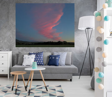 3D Pink Clouds 129 Jerry LoFaro Wall Sticker