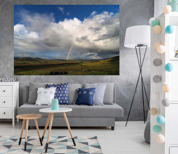 3D Grassland Clouds 116 Jerry LoFaro Wall Sticker