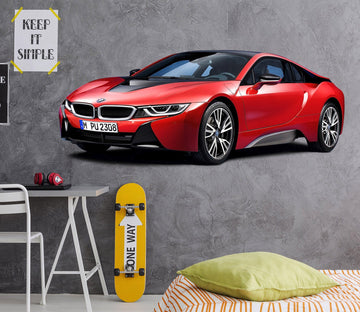 3D Bmw I8 Red 204 Vehicles Wallpaper AJ Wallpaper
