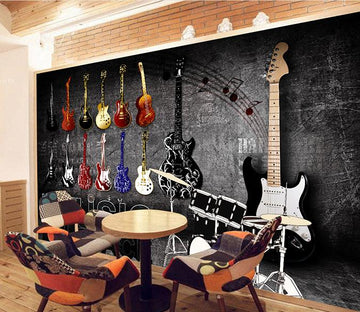3D Guitar 230 Wall Murals
