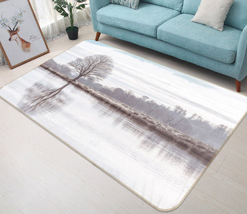 3D Tree Reflection 164 Assaf Frank Rug Non Slip Rug Mat