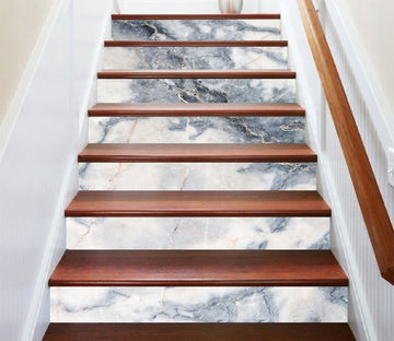 3D White Moon 5770 Marble Tile Texture Stair Risers Wallpaper AJ Wallpaper