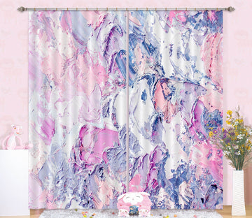 3D Abstract Powder Pigment 14 Curtains Drapes Curtains AJ Creativity Home