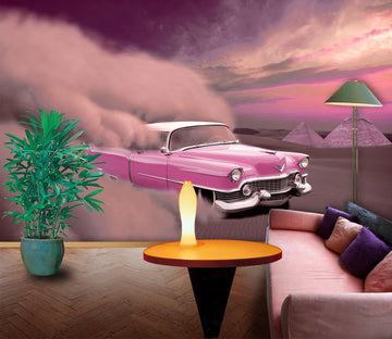 3D Desert Car 934 Vehicle Wall Murals