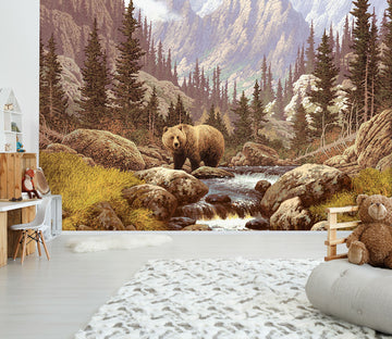 3D Bear River 206 Wall Murals