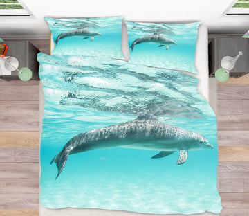 3D Dolphin 21038 Bed Pillowcases Quilt