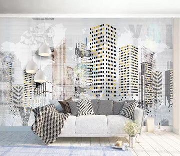 3D City 187 Wall Murals