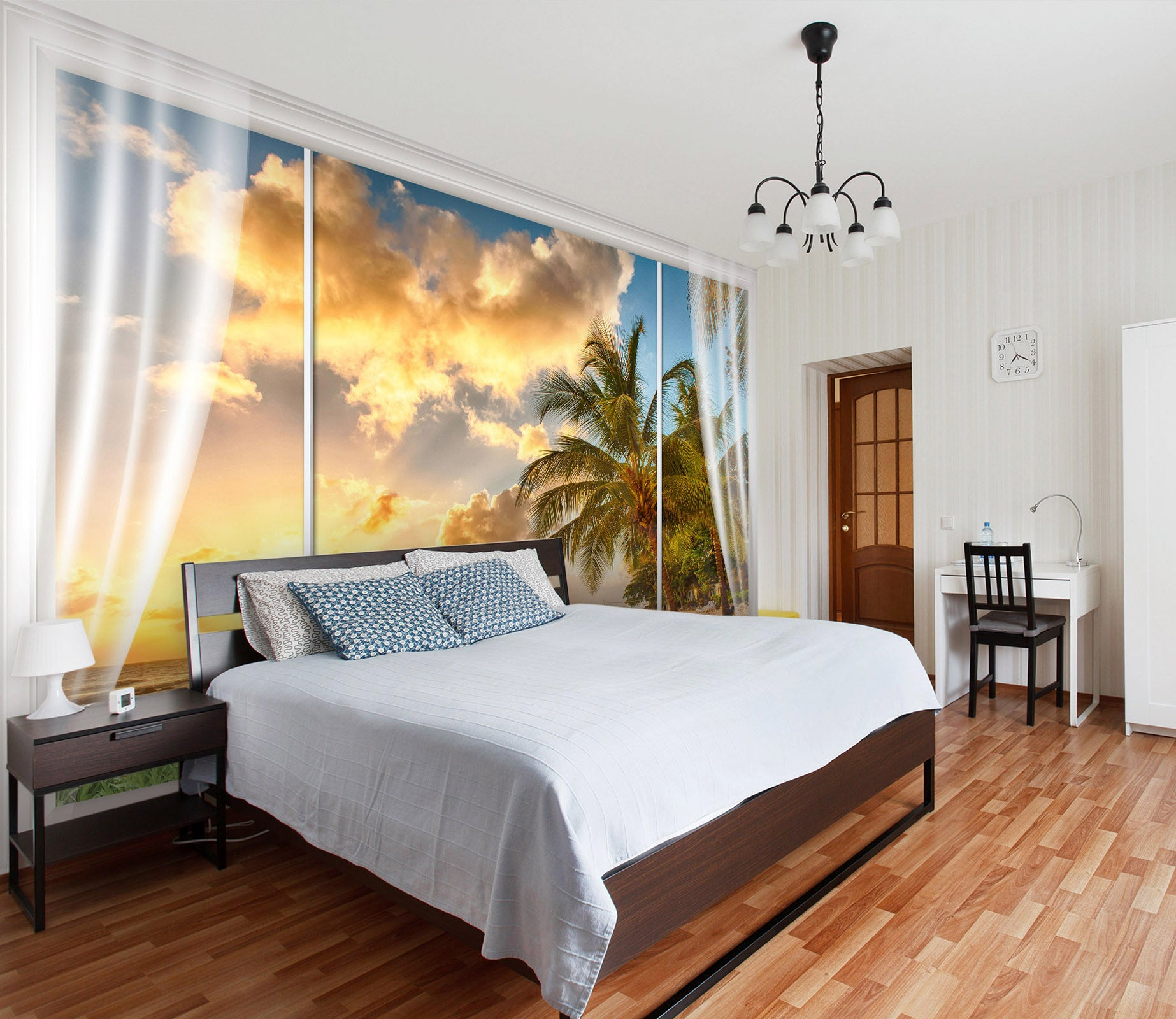 3D Coconut Tree 179 Wall Murals