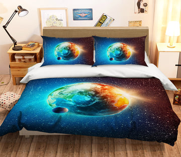 3D Star Earth 056 Bed Pillowcases Quilt