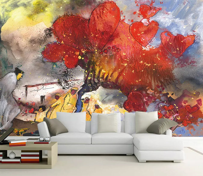 3D Red Maple 1168 Wall Murals