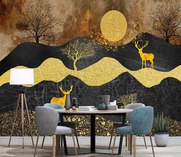3D Forest Fawn WC010 Wall Murals