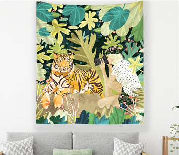 3D Forest Tiger 2358 Tapestry Hanging Cloth Hang