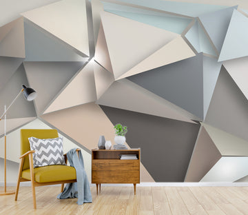 3D Triangle Patchwork 1451 Wall Murals