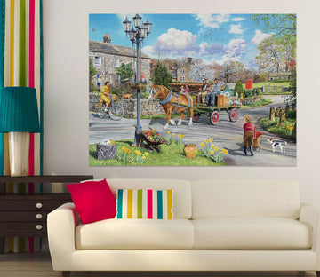 3D Carriage 058 Trevor Mitchell Wall Sticker