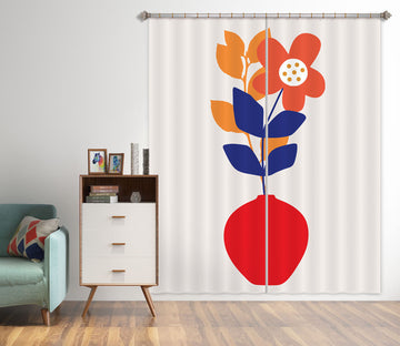 3D Colored Leaves 1128 Boris Draschoff Curtain Curtains Drapes