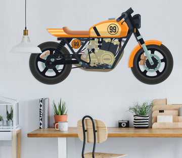 3D Yellow Motorcycle 257 Vehicles