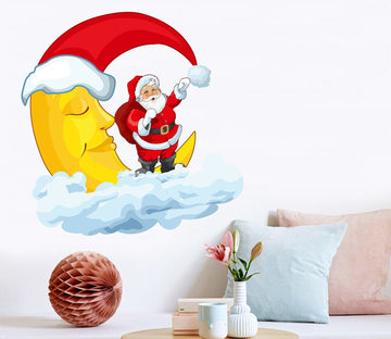 3D Yellow Moon Christmas Hat 40 Wall Stickers Wallpaper AJ Wallpaper