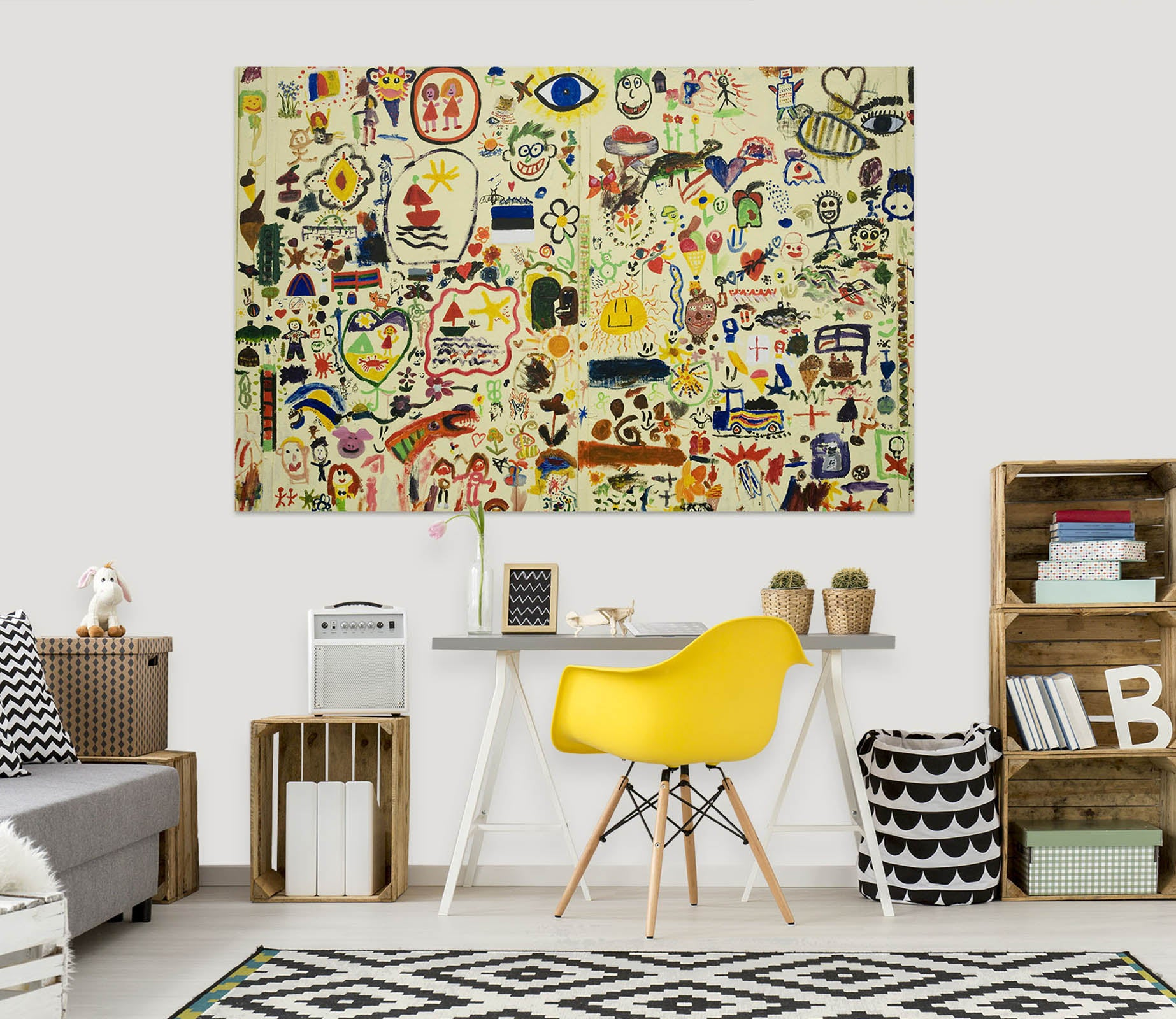 3D Crayon Drawing 1067 Wall Sticker