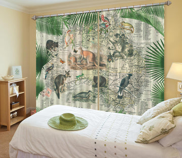 3D Australia Map 001 Andrea haase Curtain Curtains Drapes