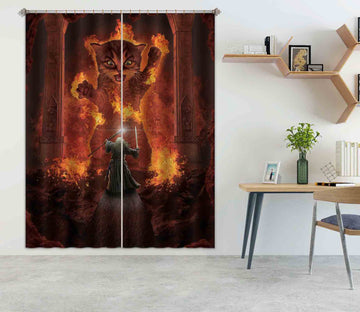 3D You Shall Not Pass 097 Vincent Hie Curtain Curtains Drapes