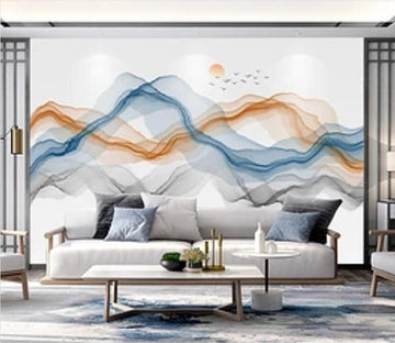 3D Color Wave 2473 Wall Murals