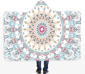 3D Stitching Petals 092 Hooded Blanket