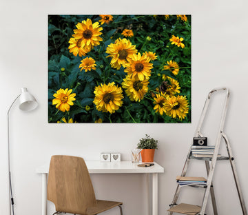 3D Sun Flower 133 Jerry LoFaro Wall Sticker