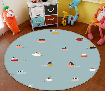 3D Color Ship 64167 Round Non Slip Rug Mat