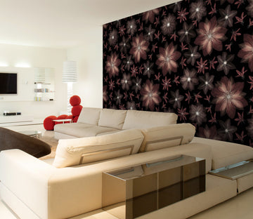 3D Red Blooming Flower 082 Assaf Frank Wall Mural Wall Murals