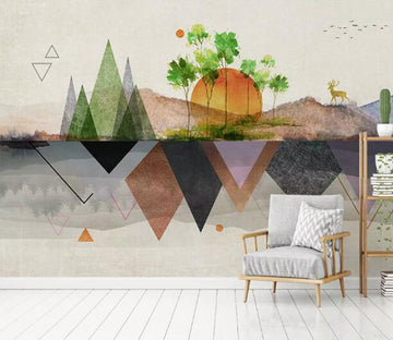 3D Sun Triangle WC882 Wall Murals