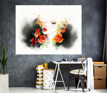 3D Beauty Woman 1059 Wall Sticker