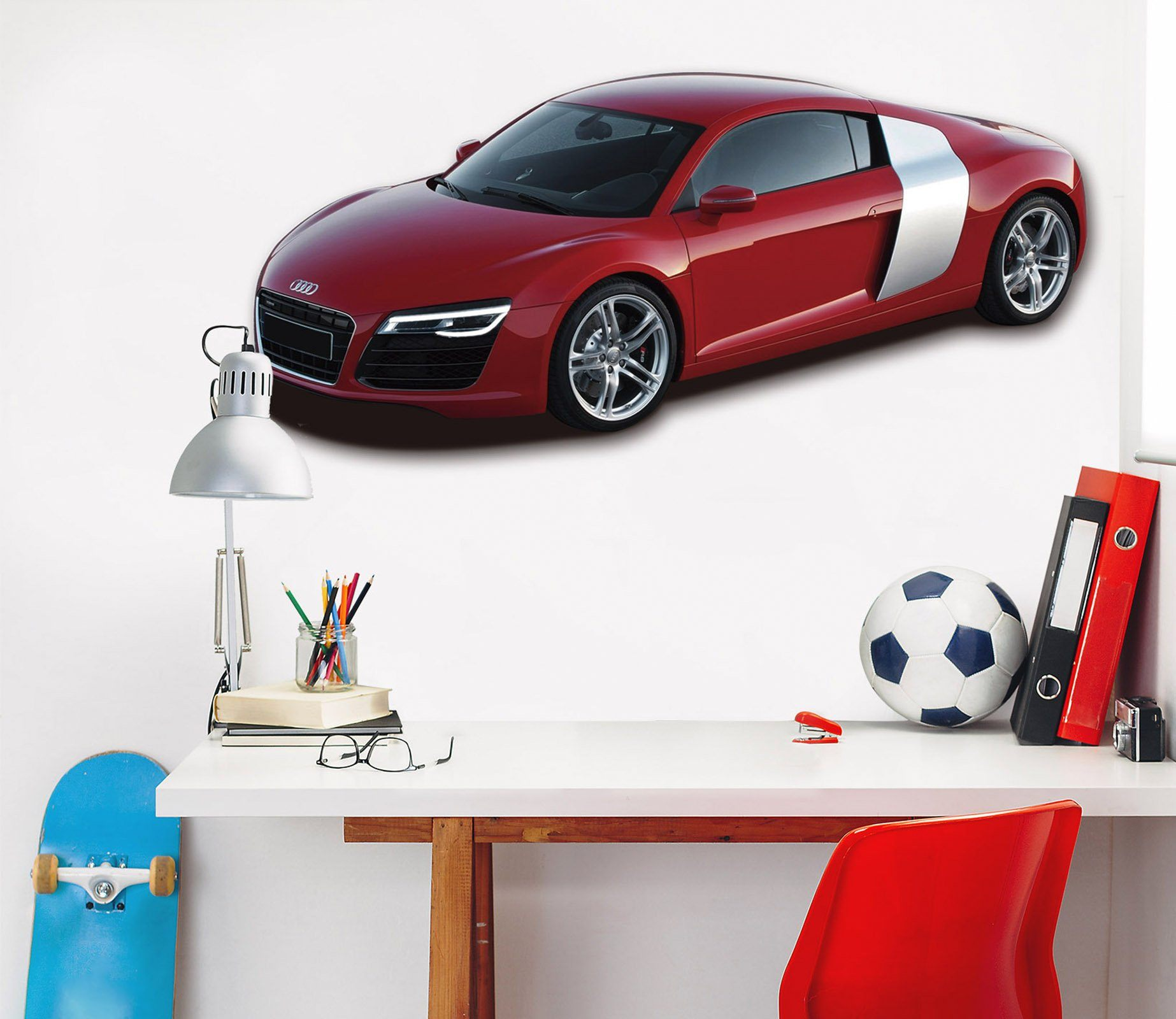 3D Audi I8 Red 176 Vehicles Wallpaper AJ Wallpaper