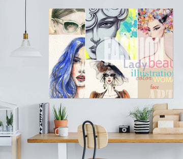 3D Model Woman 1005 Wall Sticker