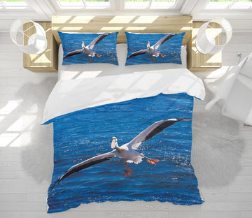 3D Seagull 21022 Bed Pillowcases Quilt