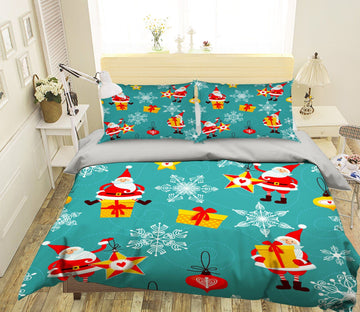 3D Christmas Drop The Gift 40 Bed Pillowcases Quilt