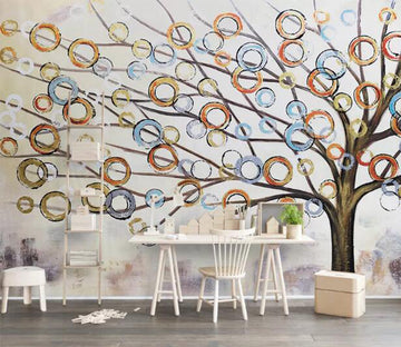 3D Painted Tree WC106 Wall Murals