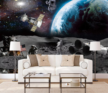 3D Earth Astronaut WC1699 Wall Murals