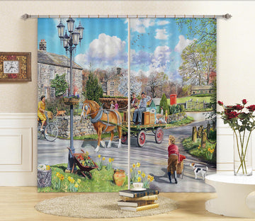 3D Carriage 088 Trevor Mitchell Curtain Curtains Drapes