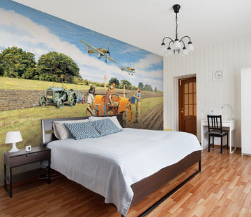 3D Ploughing For Britain 1045 Trevor Mitchell Wall Mural Wall Murals