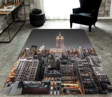3D New York Night 183 Assaf Frank Rug Non Slip Rug Mat