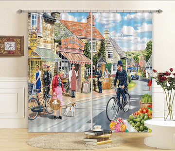 3D The Village High Street 114 Trevor Mitchell Curtain Curtains Drapes